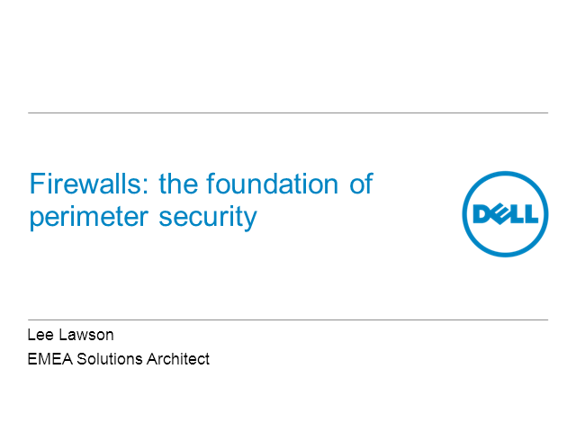 Firewalls: The Foundation of Perimeter Security