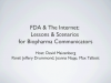 FDA & Internet: Lessons & Scenarios for Biopharma Communicators