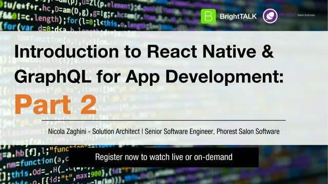 Introduction to React Native and GraphQL for App Development: Part 2