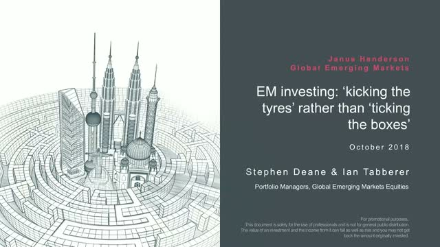 EM investing: 'kick the tyres' rather than 'tick the boxes'