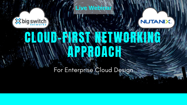 Cloud-First Networking Approach for Enterprise Cloud Design