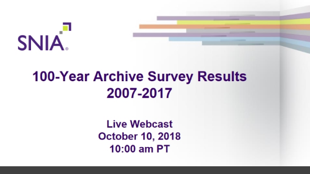 The 100-Year Archive Survey Results 2007-2017