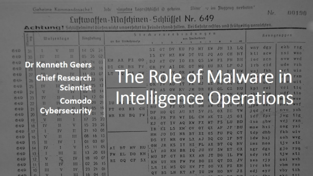 The Role of Malware in Intelligence Operations