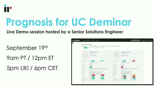 Prognosis for UC Live Demo [September 2018]