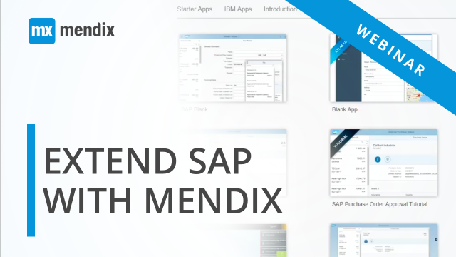 Low-Code in 30 Webinar: Extend SAP with Rapid Application Development