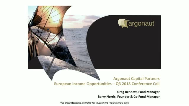FP Argonaut European Income Opportunities Fund Q3 2018 Update