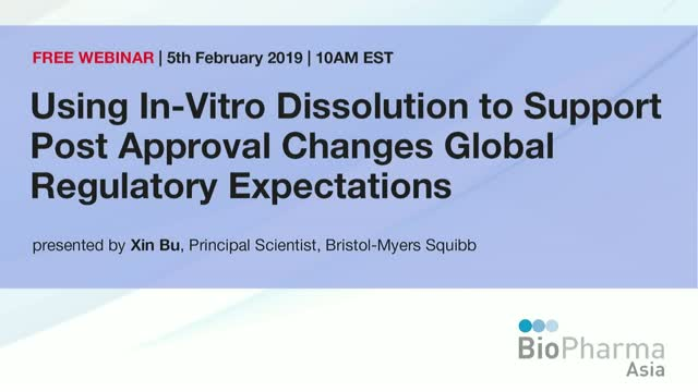 Using In-Vitro Dissolution to Support Post Approval Changes Global Regulatory Ex