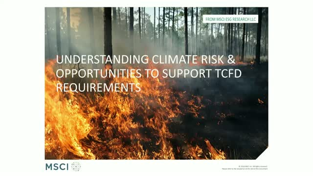 Understanding Portfolio-Level Climate Risk and Opportunities to Support TCFD Req