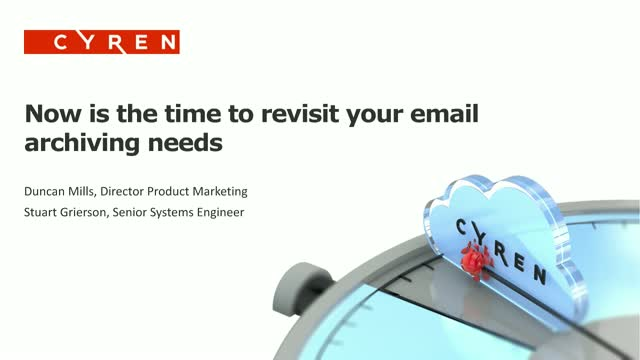 Now is the time to revisit your email archiving needs