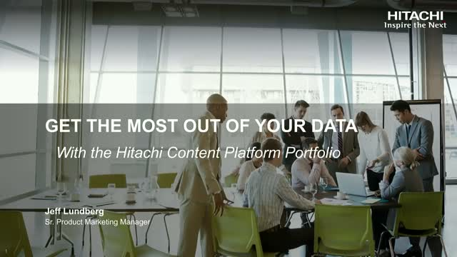 Hear What's NEW with Hitachi Content Portfolio?