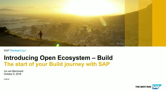 Introducing the new SAP PartnerEdge Open Ecosystem – Build