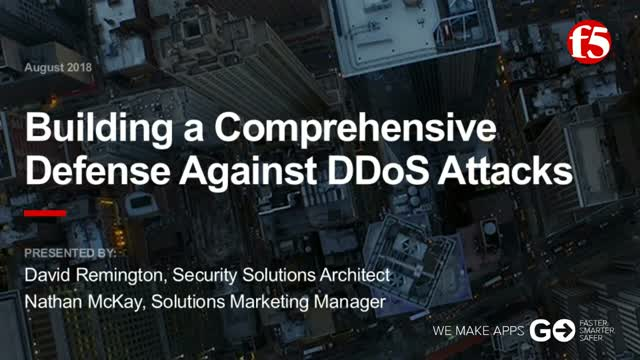 How to Build a Comprehensive Defense Against DDoS Attacks