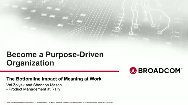 Become a Purpose-Driven Organization
