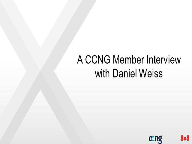 A CCNG Member Interview with Daniel Weiss
