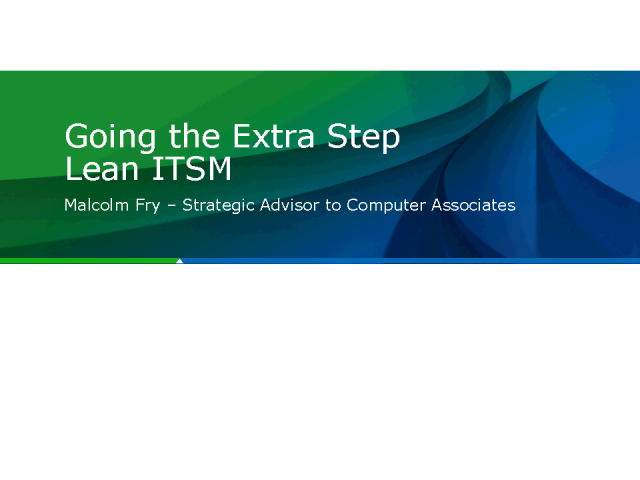 Going the extra step with Lean IT