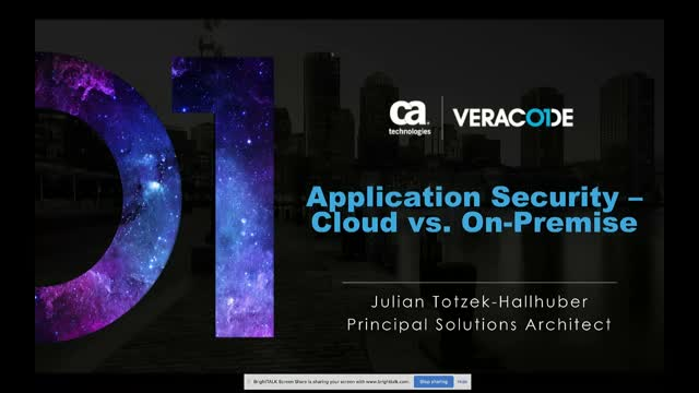 Application Security - On Premise vs. Cloud Solution