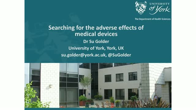 Searching for adverse effects of medical devices in MEDLINE and Embase
