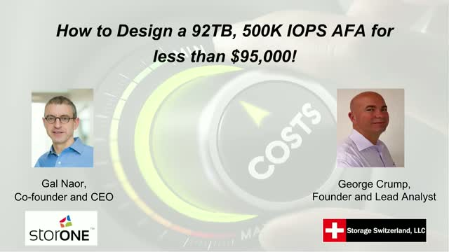 How to Design a 92TB, 500K IOPS AFA for less than $95,000!