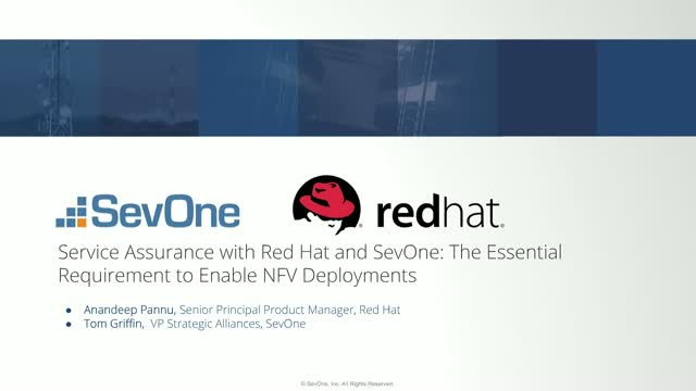 Service Assurance Red Hat & SevOne: The Essential Requirement to Enable NFV