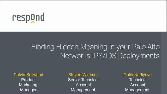 Finding Hidden Meaning in your Palo Alto Networks IPS/IDS Deployments