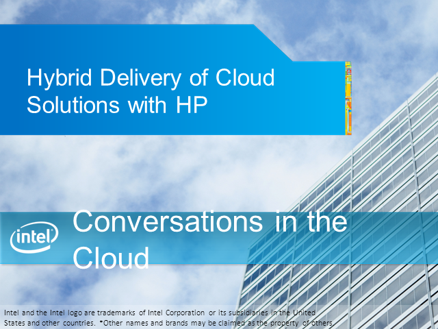 Hybrid Delivery of Cloud Solutions with HP