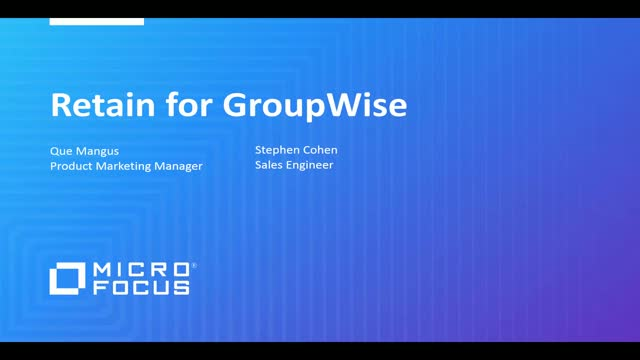 Retain Archiving for GroupWise
