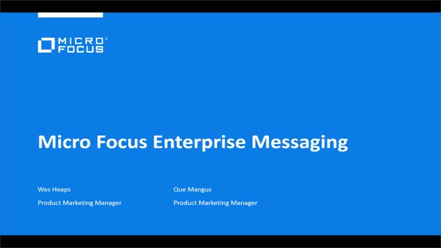 Micro Focus Enterprise Messaging