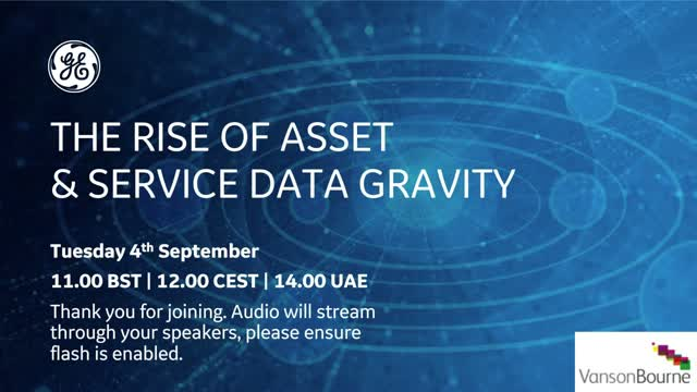 The Rise of Asset and Service Data Gravity