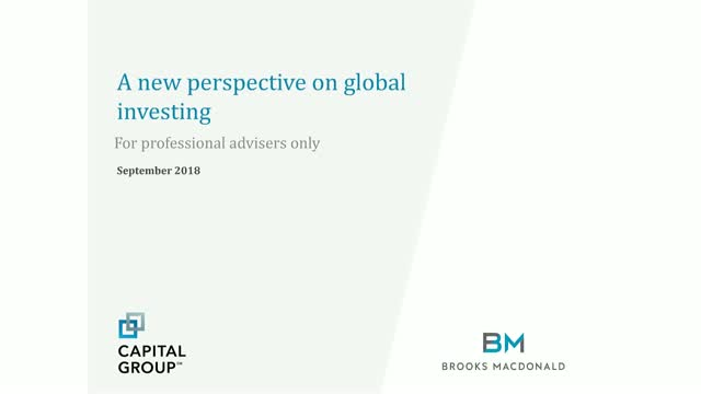 A new perspective on global investing
