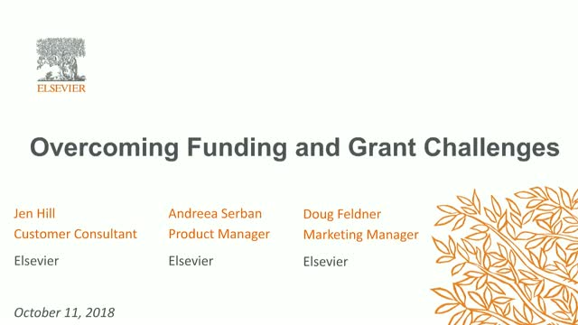 Overcoming Funding and Grant Challenges with Funding Institutional by Elsevier