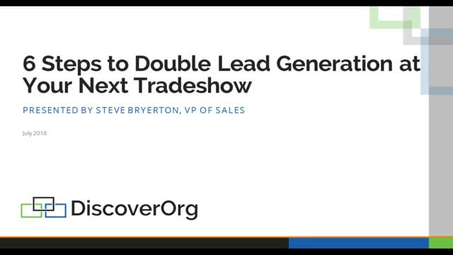 6 Steps to Double Lead Generation at Your Next Tradeshow