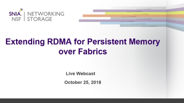 Extending RDMA for Persistent Memory over Fabrics