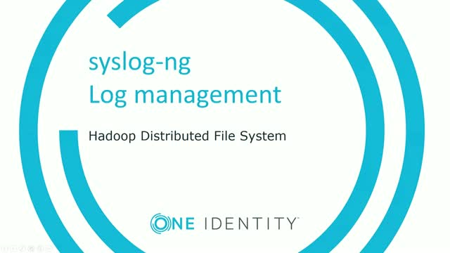 High performance log streaming to HDFS with syslog-ng