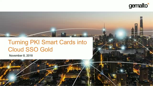 Turning PKI Smart Cards into Cloud SSO Gold