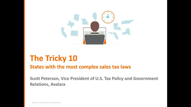The Tricky 10: States with the Most Complex Sales Tax Rules