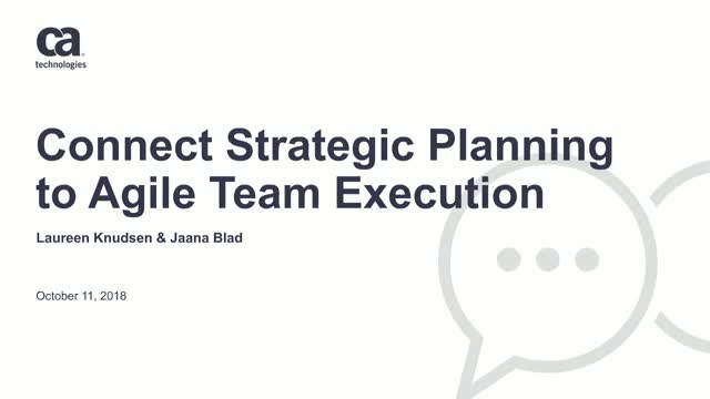 Connect Strategic Planning to Agile Team Execution