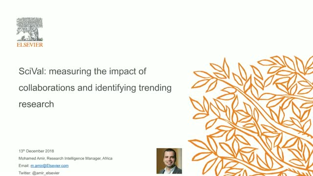 SciVal: measuring the impact of collaborations and identifying trending research