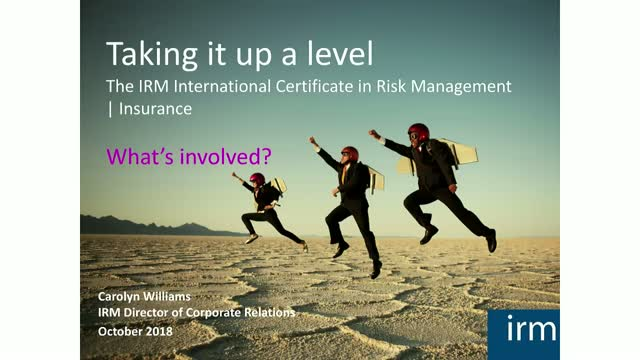 Build your career in risk: Insurance focus