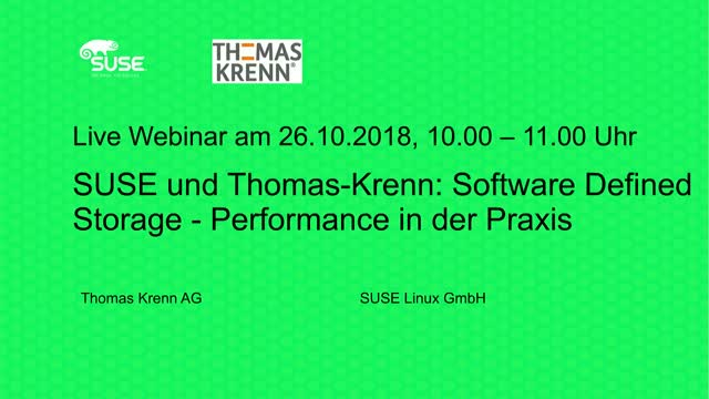 SUSE und Thomas-Krenn: Software Defined Storage - Performance in der Praxis