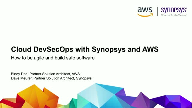 Cloud DevSecOps With Synopsys and AWS