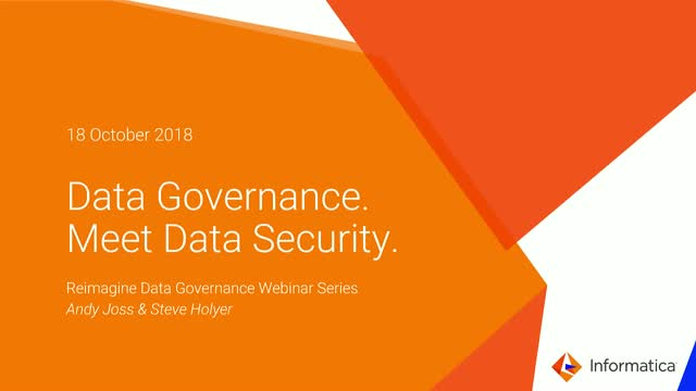 Reimagine Data Governance: Data Governance. Meet Data Security.