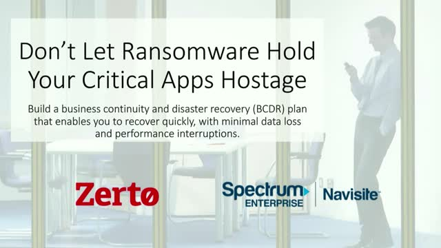 Don't Let Ransomware Hold Your Critical Apps Hostage