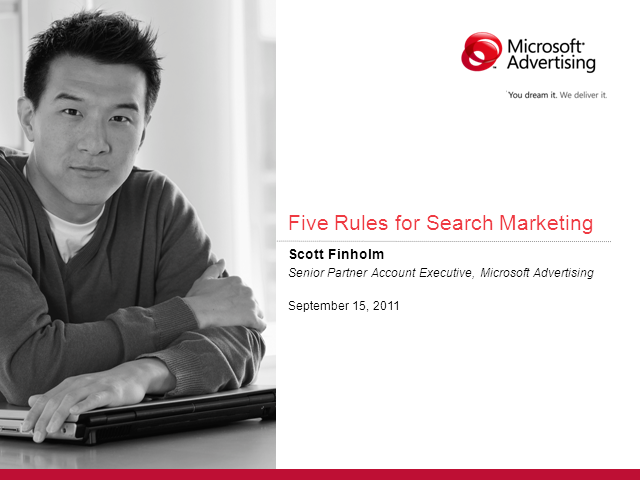 Five Rules for Search Marketing