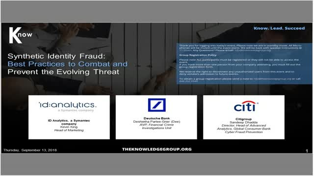 Synthetic Identity Fraud: Best Practices to Combat & Prevent the Evolving Threat