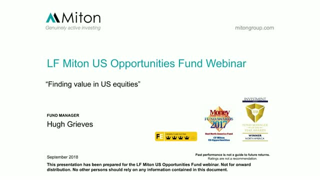 Finding value in US equities - Miton Webinar