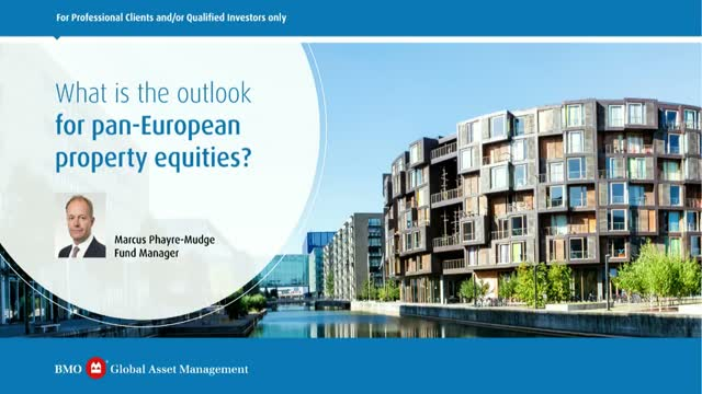 What is the outlook for pan-European property equities?
