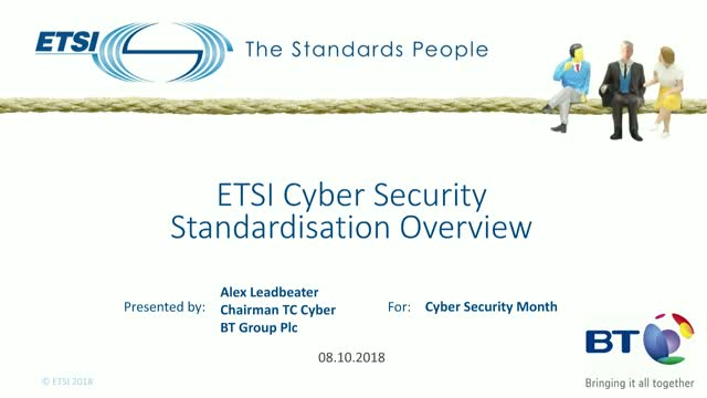 ETSI Cyber Security Standardization Overview