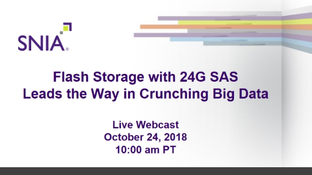 Flash Storage with 24G SAS Leads the Way in Crunching Big Data