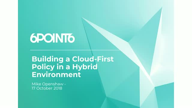 How to Build a Cloud-First Policy in Hybrid & Edge Computing Environments
