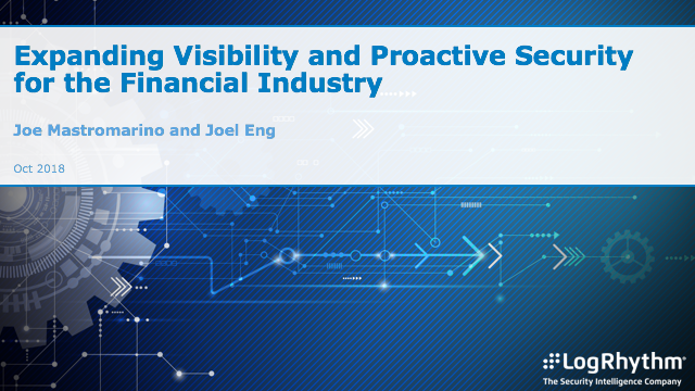 Expanding Visibility and Proactive Security for the Financial Industry